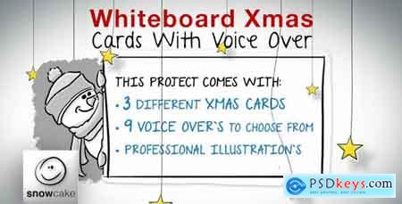 Videohive Whiteboard Xmas Cards With Voice Over Free