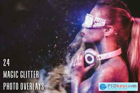 24 Magic Glitter Photo Overlays