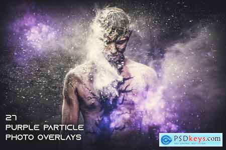 27 Purple Particle Photo Overlays