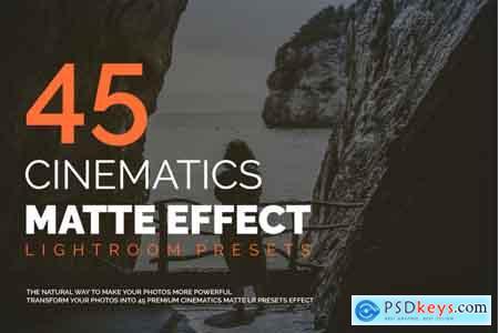 45 Cinematic Matte Effect LR Presets