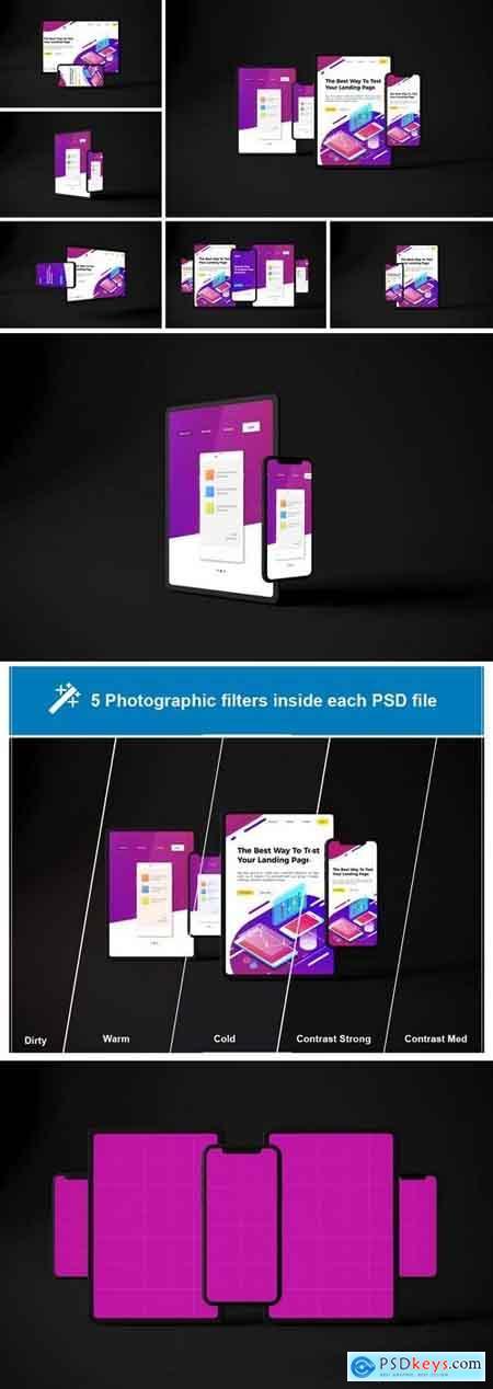 Creativemarket Dark iPhone XS & iPad Pro