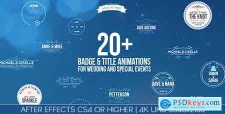 Videohive Badges Title Animations For Wedding And Special Events Free