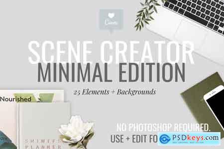 CreativeMarket Minimal Tech Mockups + Scene Creator