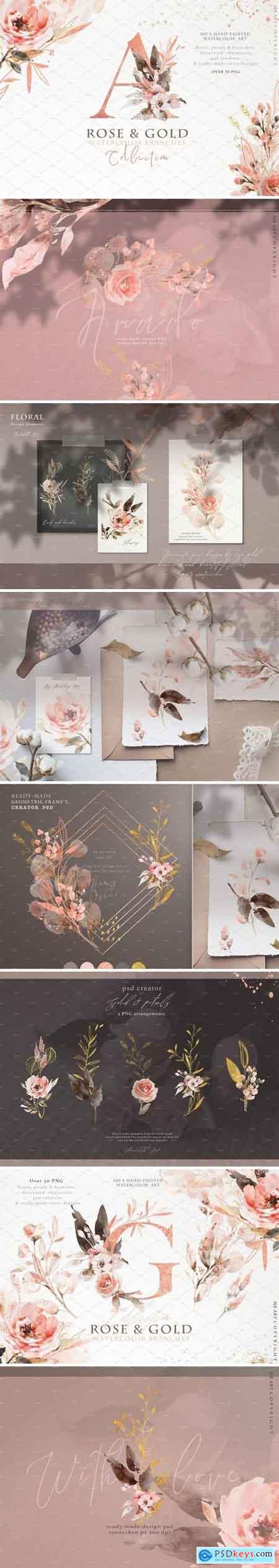 Rose Gold arrangements