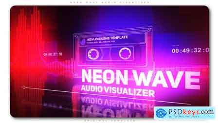 Videohive Neon Wave Audio Visualizer Free