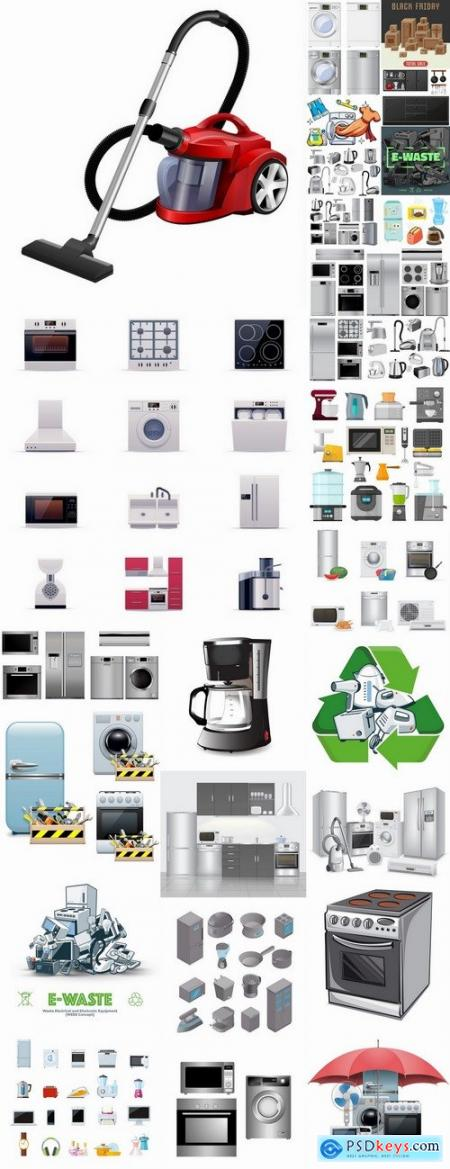 Collection of household appliances icon logo 25 HQ Jpeg