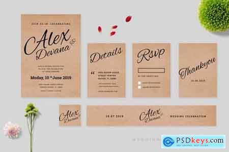 Wedding Invitation Set Vol 5