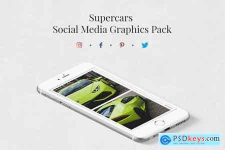 Supercars Social Media Graphics Pack Bundle » Free Download