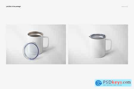 Creativemarket 10oz Stainless Coffee Cup Mockup Set