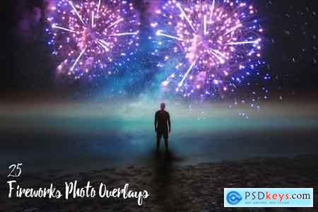 Creativemarket 25 Fireworks Photo Overlays