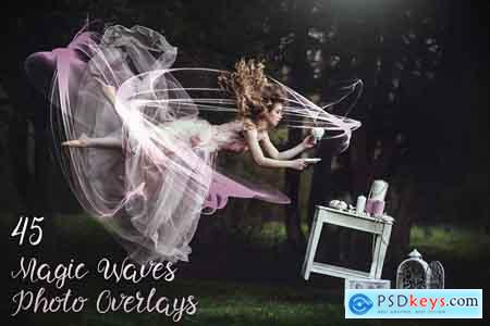 Creativemarket 45 Magic Waves Photo Overlays