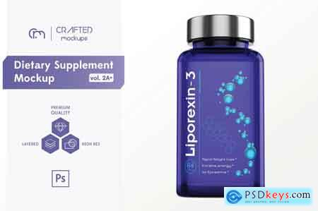 Creativemarket Dietary Supplement Mockup v2A Plus