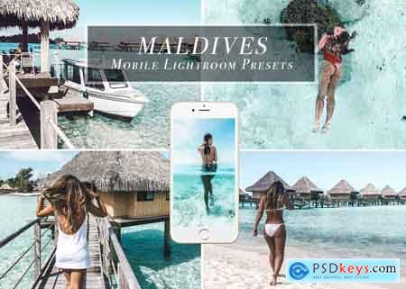 Creativemarket Lightroom Mobile Presets - Maldives