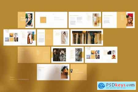 Creativemarket Sand Collection Brochure Template