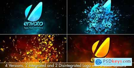 Videohive Cinematic Fire Shatter Logo Free