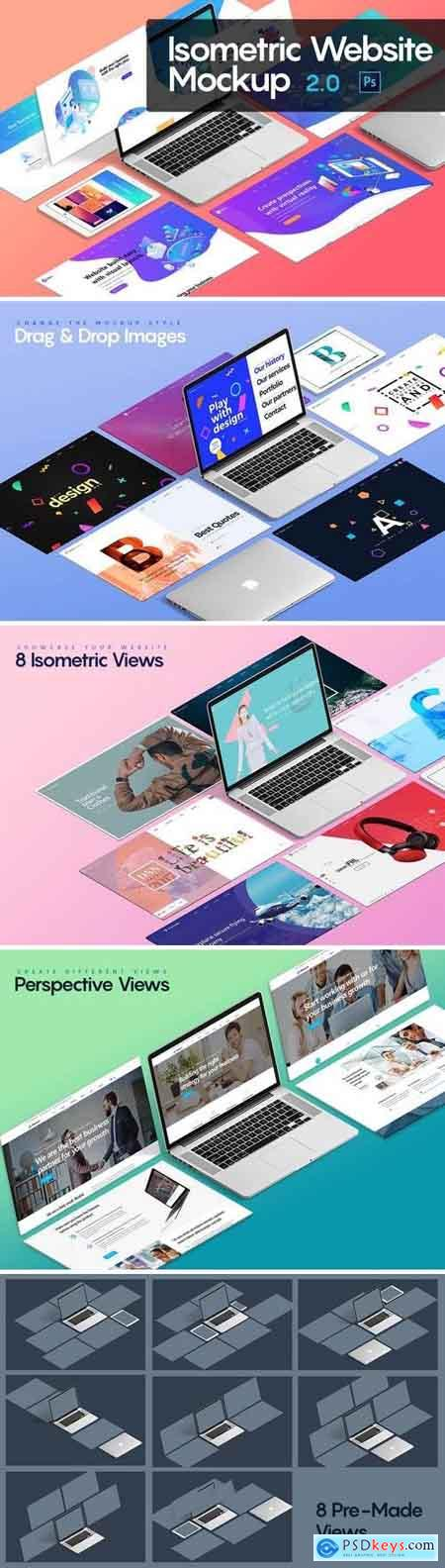 Isometric Website Mockup 2.0