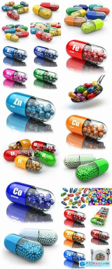 3D render tablet pill medicine chemical element 25 HQ peg