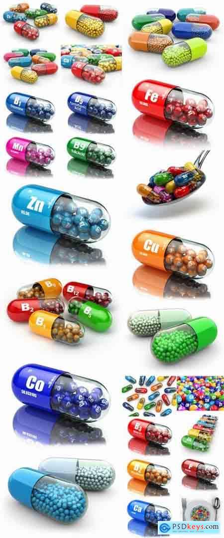 3D render tablet pill medicine chemical element 25 HQ peg