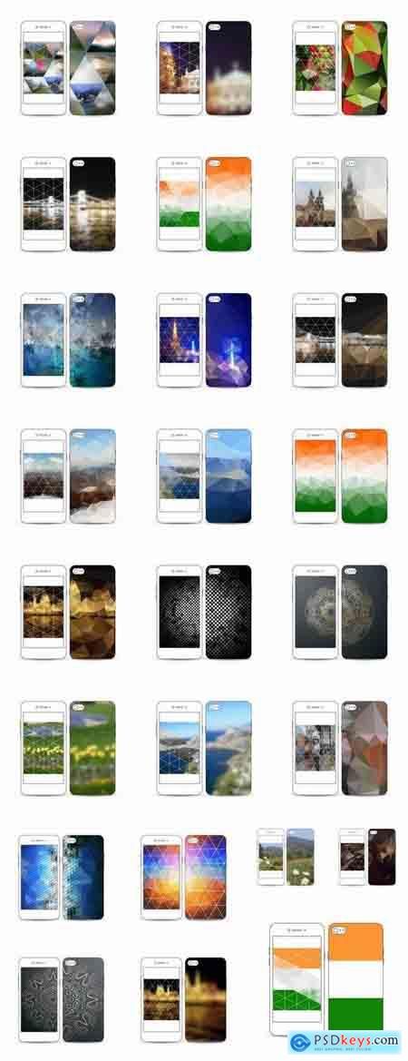 Background template for mobile phone cover pattern 25 EPS
