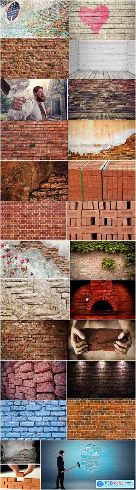 Brick wall pattern background is a decoration concept 25 HQ Jpeg