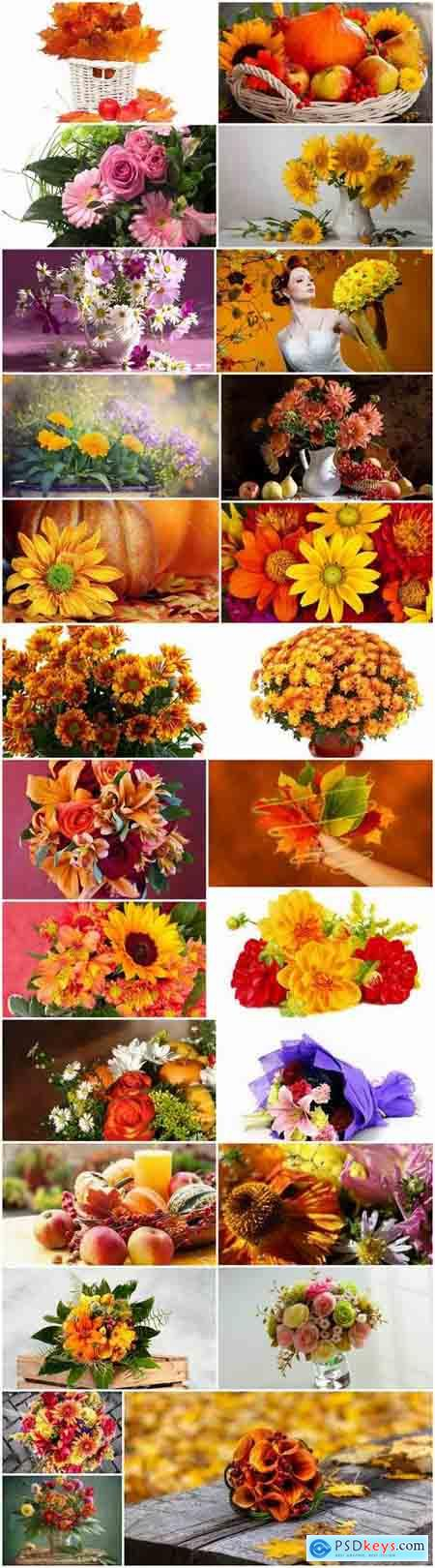 Autumn flowers bouquet of yellow 25 HQ Jpeg