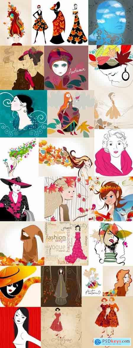 Beautiful girls in autumn 25 Eps