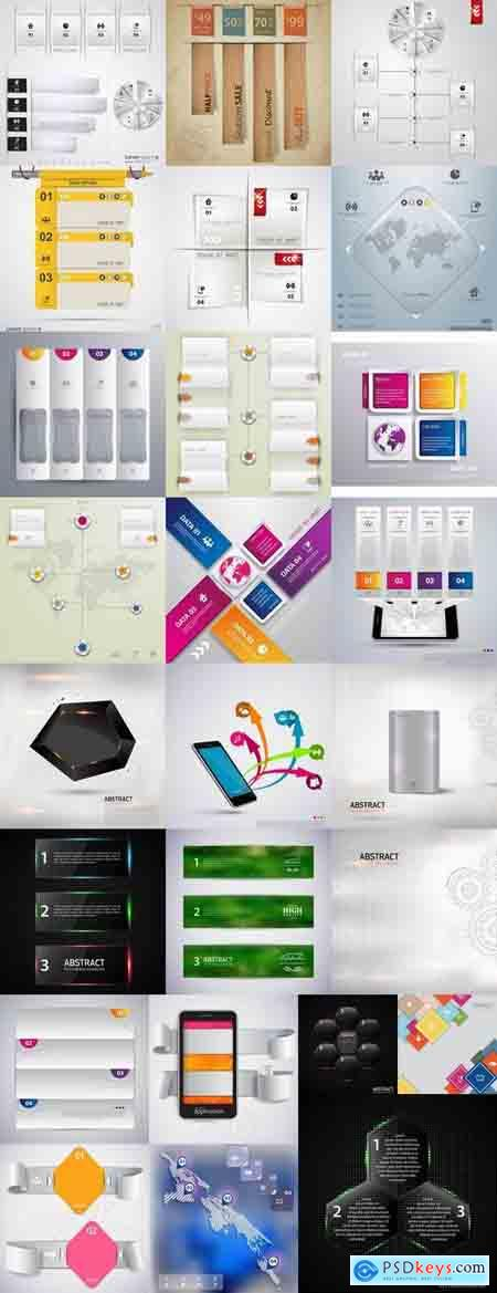 Infographics poster banner business template 25 EPS