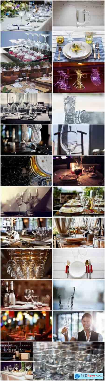 Glass goblet glassware holiday banquet table setting 25 HQ Jpeg
