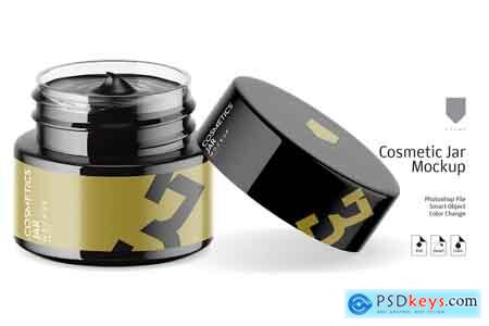 Creativemarket Cosmetic Glass Jar Mockup 3