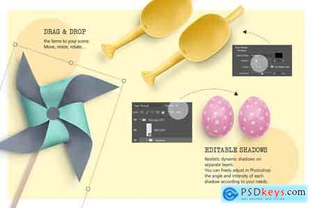 Creativemarket Easter Scene Creator Vol. 1 3529381