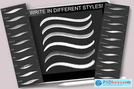 Creativemarket Lettering Brush-Pack for Procreate