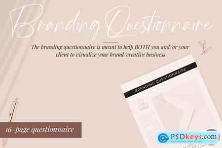 Creativemarket Branding Questionnaire - Canva