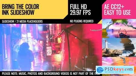 Videohive Bring the Color (Ink Slideshow)  Free