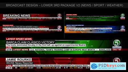 Videohive Broadcast Design - News Lower Third Package 2 Free