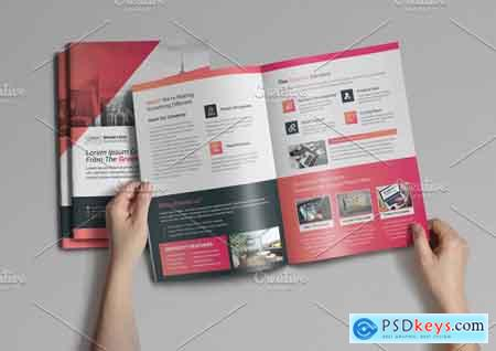 Creativemarket 4pages Bifold Brochure