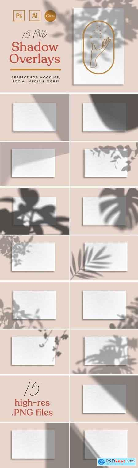 Creativemarket 15 Shadow Mockup Overlays