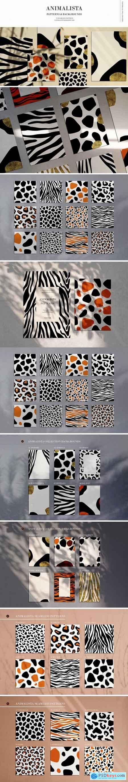 Creativemarket Animalista - patterns collection
