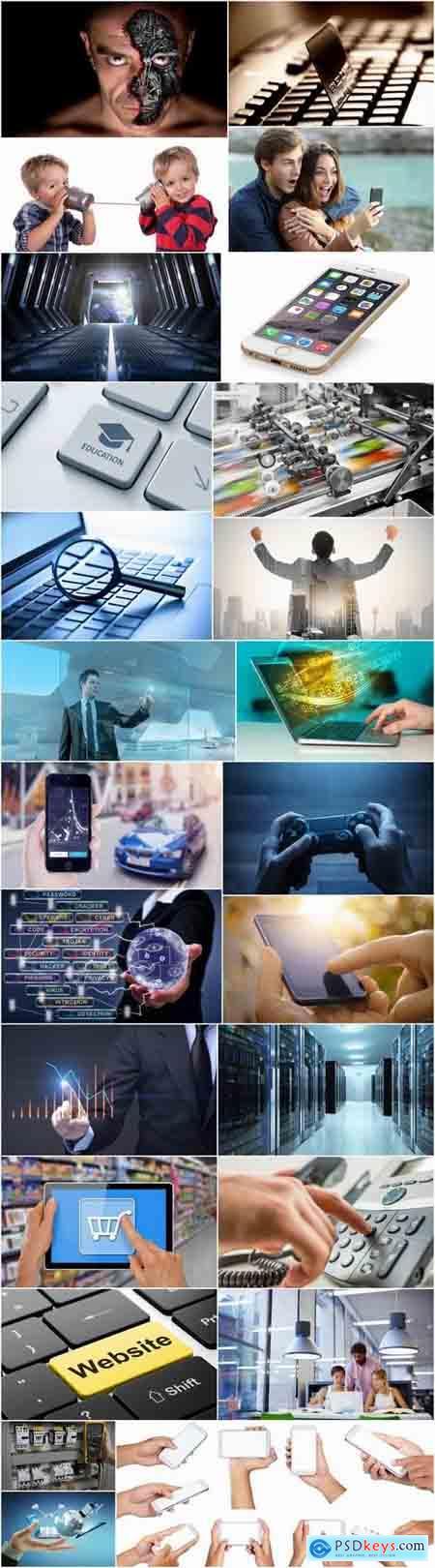 Hightech nanotechnology telemetry communication computer connection 25 HQ Jpeg