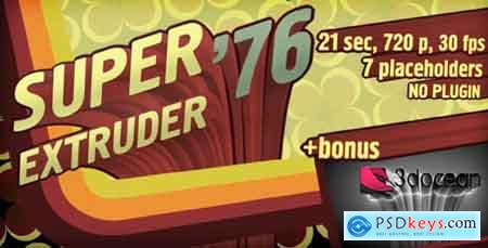 Videohive Super Extruder '76 Titles with Placeholders +Bonus Free