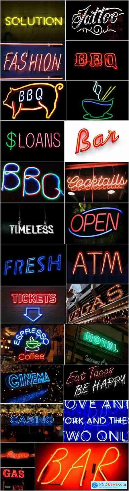 Neon sign filament inert gas 25 HQ Jpeg