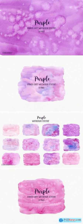 Watercolor purple texture