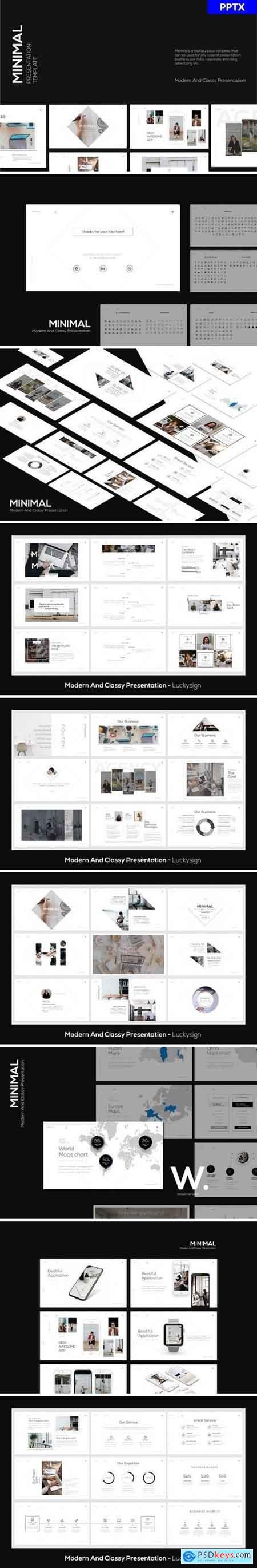MINIMA - PowerPoint, Keynote and Google Slides Template LS