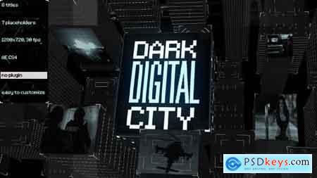 VideoHive Dark Digital City Titles Free
