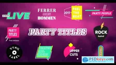 VideoHive Party Titles (With Slideshow) Free