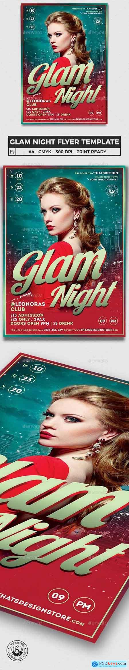 Glam Night Flyer Template