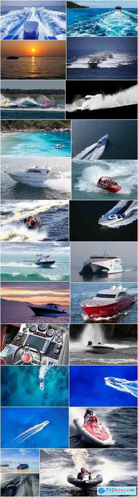 Motorboat yacht schooner sea ship travel vacation 25 HQ Jpeg