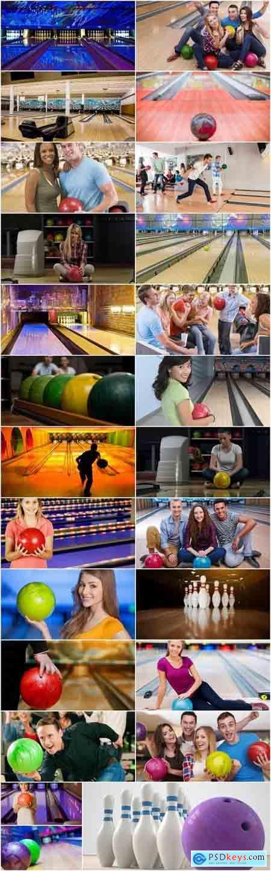 Bowling pin a skittle alley ball strike parquet path 25 HQ Jpeg