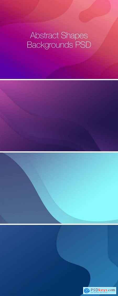 10 Abstract Shapes Gradient Backgrounds