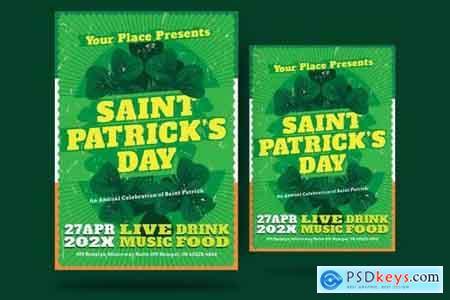 St Patrick Day Shamrock Flyer