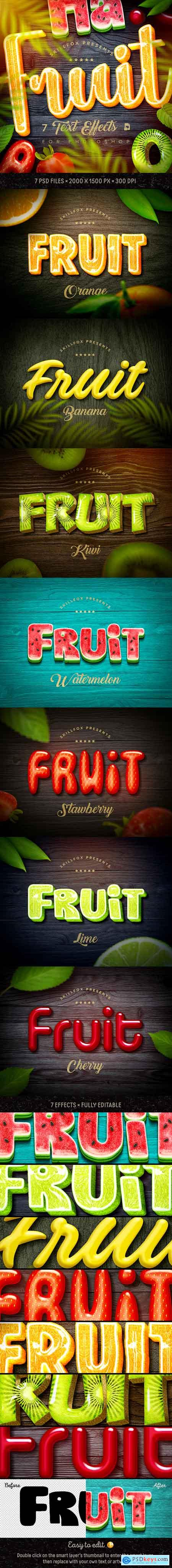Graphicriver Fruit Text Effects х7 Psd